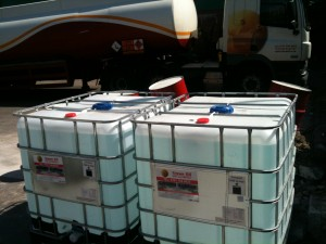 AdBlue - 500 litre tanks of AdBlue on-site