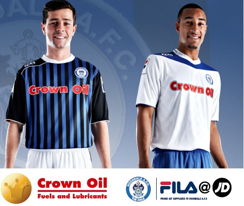 Rochdale AFC Kit 13/14 Crown Oil