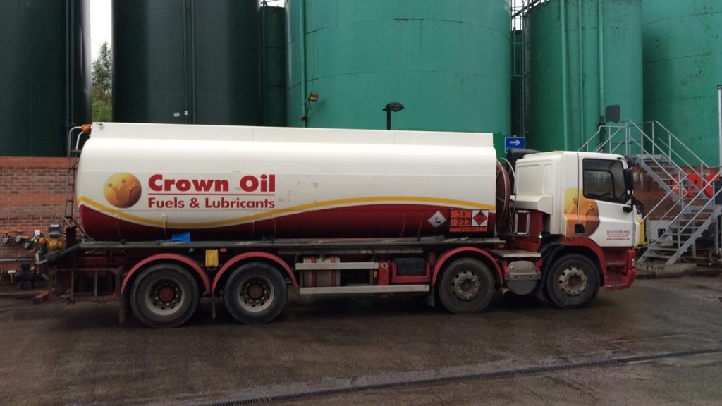 The Crown Oil Fuel Tanker which we were doing our Fuel Deliveries in!