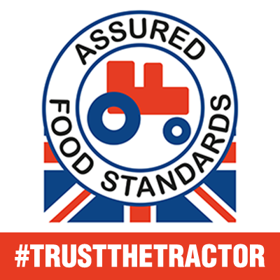 Look for the Red Tractor logo