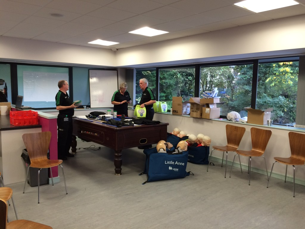 St John's Ambulance - Defib training session at Crown Oil