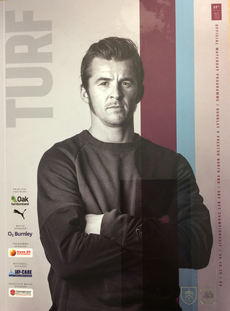 matchday programme burnley fc v preston north end